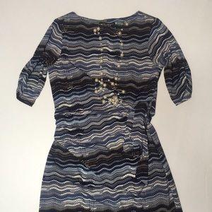 Sandra Angelozzi Jersey Dress Sz L